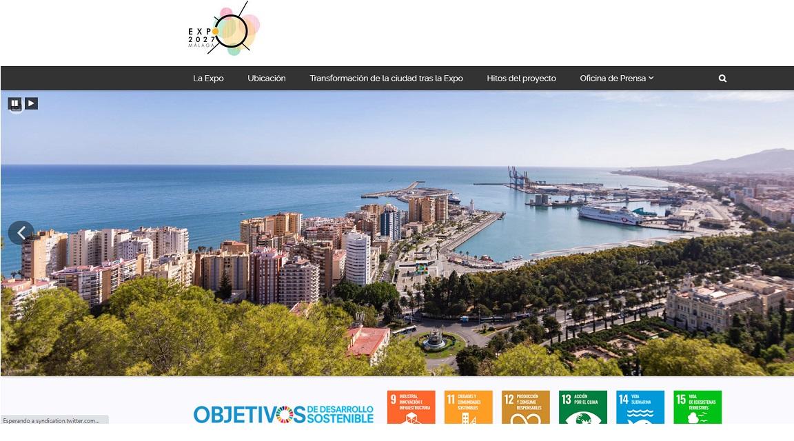 Una web sobre el proyecto de Málaga para la Expo Internacional 2027 2
