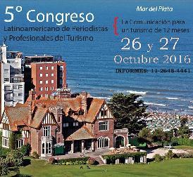 Congreso latinoamericano de periodistas y profesionales del turismo en Mar del Plata